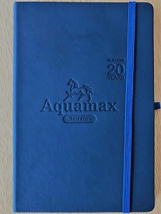 Aquamax 20 years Celebratory Notepad